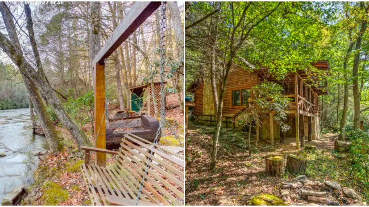 Airbnb Cabin In Georgia Has A Relaxing Riverside Swing