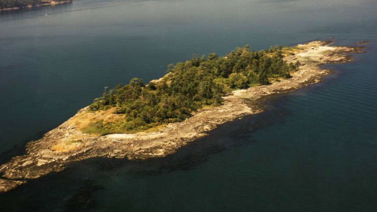 Buy A Private Island In B.C. Minutes from Victoria That Has Beautiful Pebble Beaches