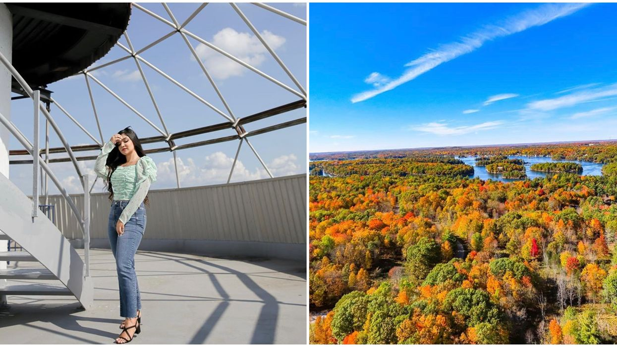 Ontario's 1000 Islands Tower Lets You Gaze Over A Colourful Fall Paradise