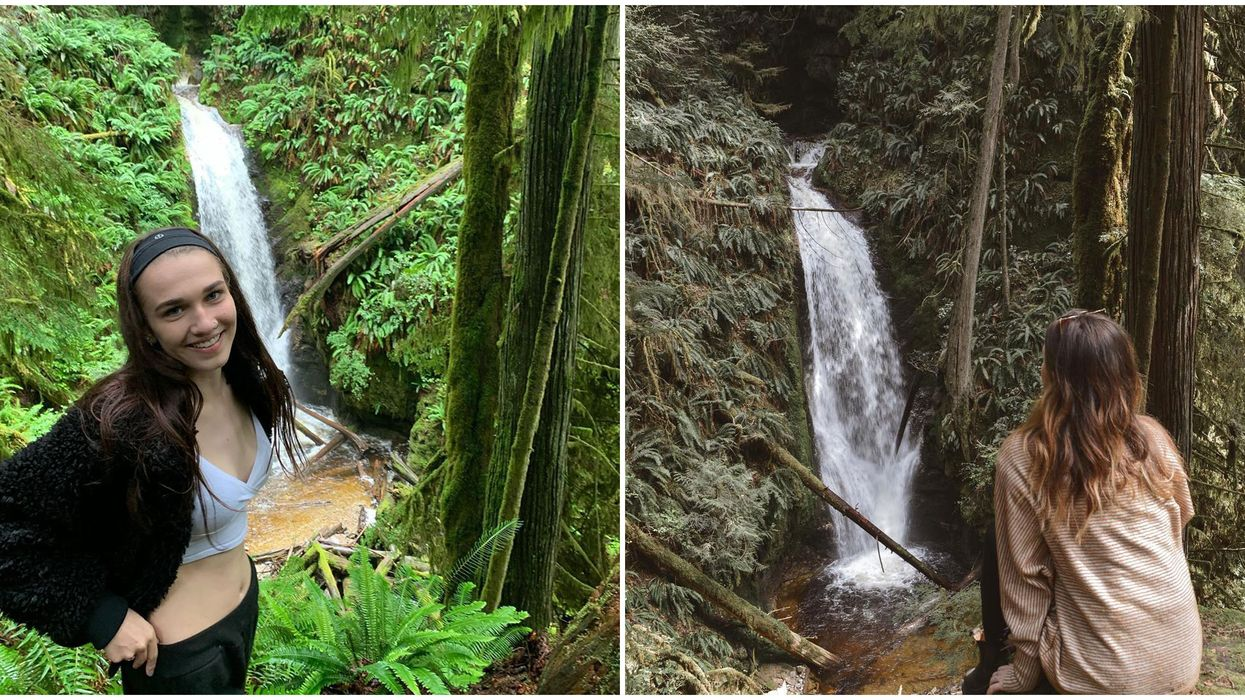 BC's Sunshine Coast Has A Quick 0.5-km Hike To A Waterfall Forest Grove
