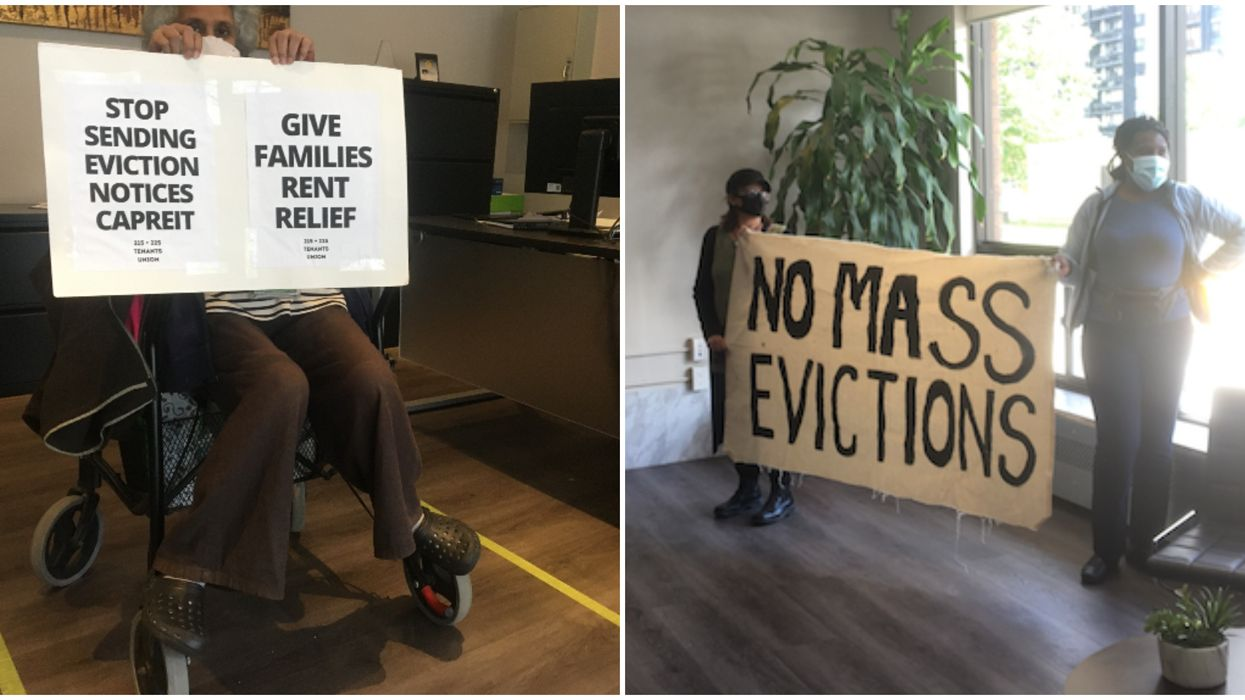 Toronto Tenants Are Protesting Their Landlord's Office Until All Evictions Are Called Off
