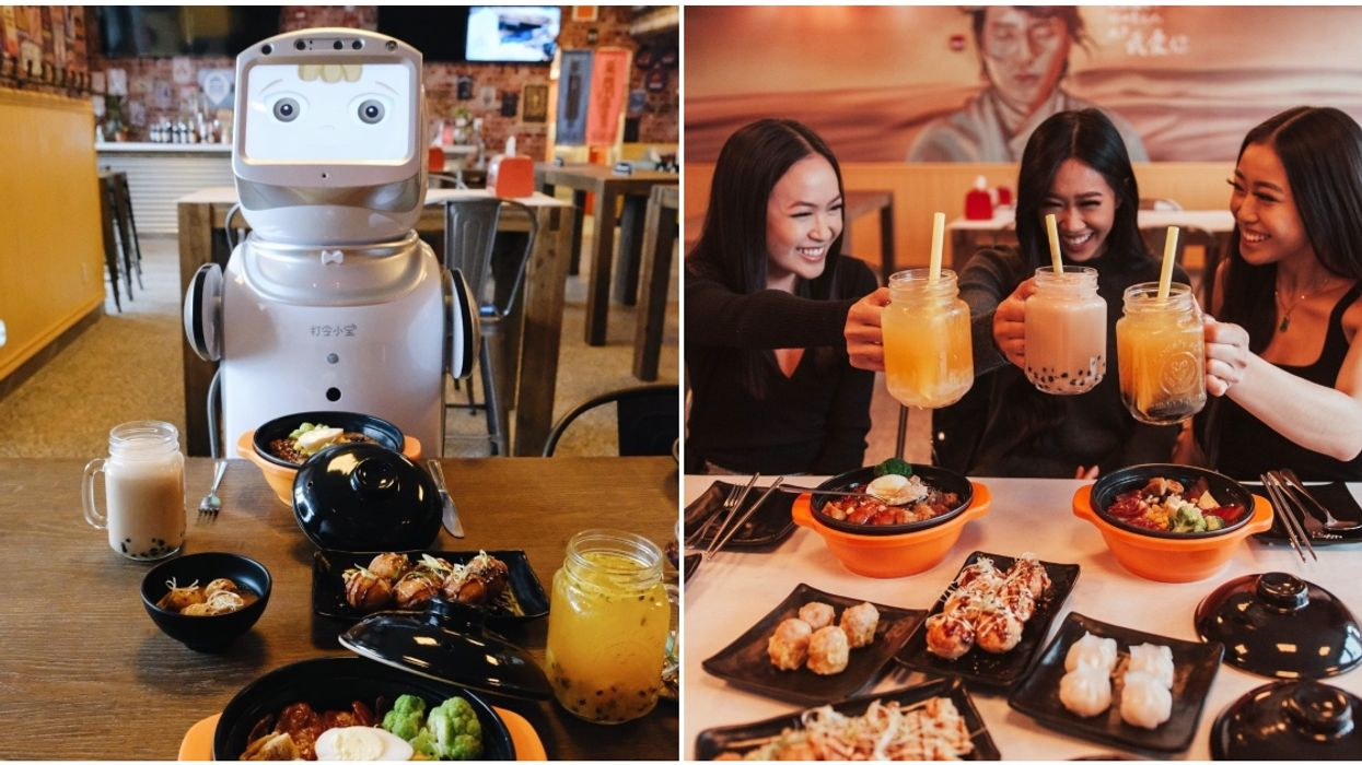 There Are Robot Servers At This New Calgary Restaurant & We're Officially Over Humans