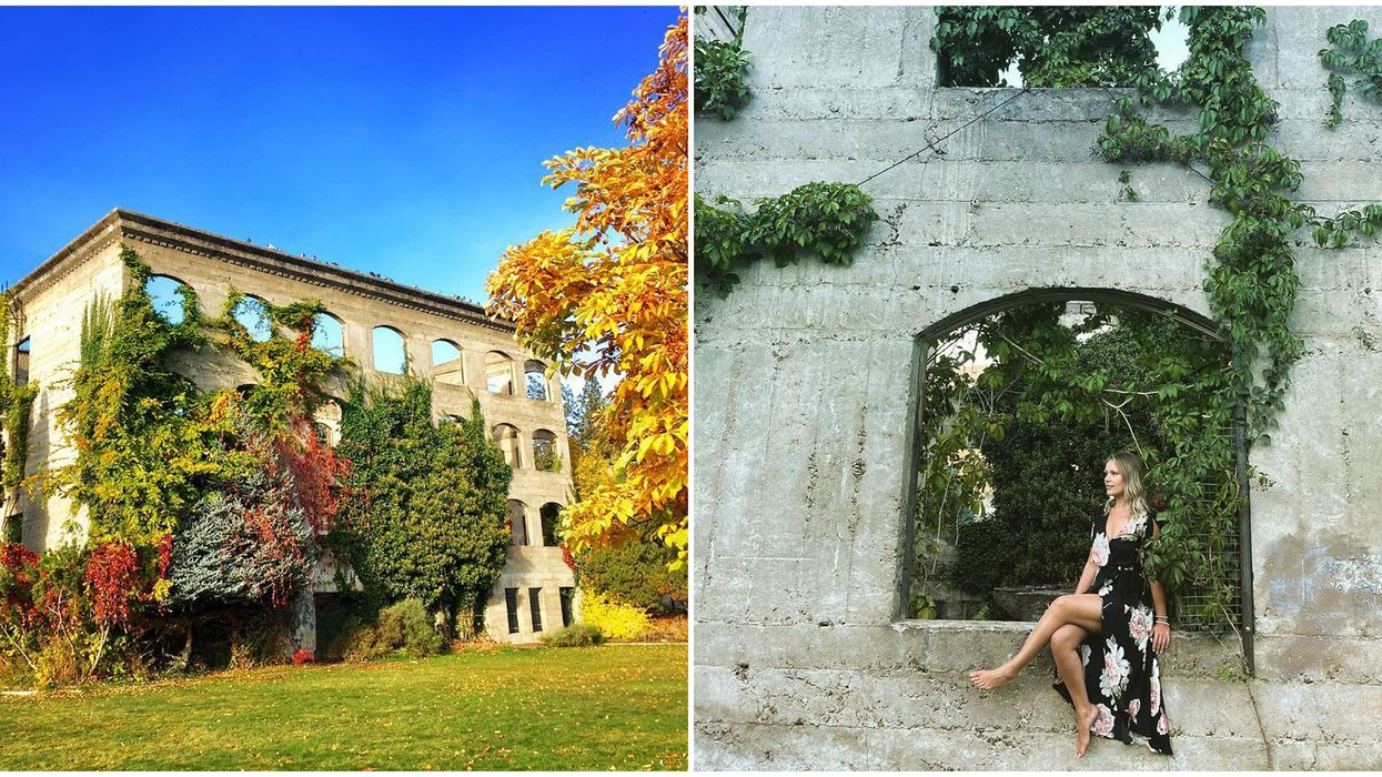 Ruins Near Kelowna Are So Mysterious & Perfect For A Fall Road Trip