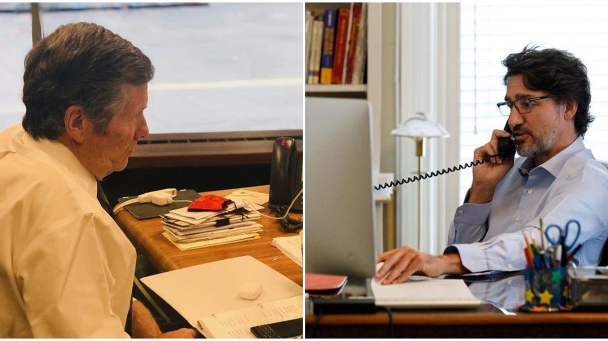 John Tory & Justin Trudeau's COVID-19 Phone Call