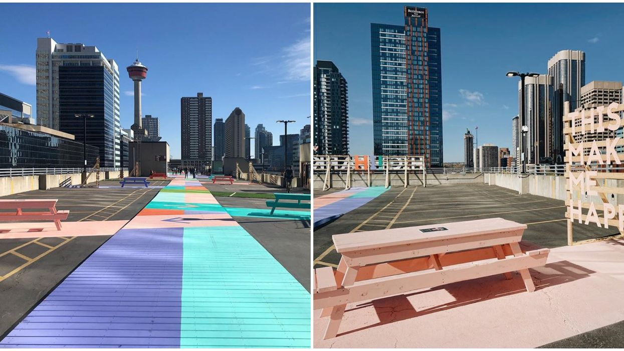 Calgary's High Park Is The Newest Rooftop Patio & It's On Top Of A Parkade