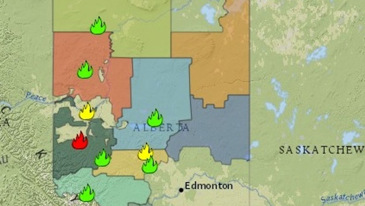 An 'Out Of Control' Wildfire Is Blazing Between Calgary & Banff Right Now