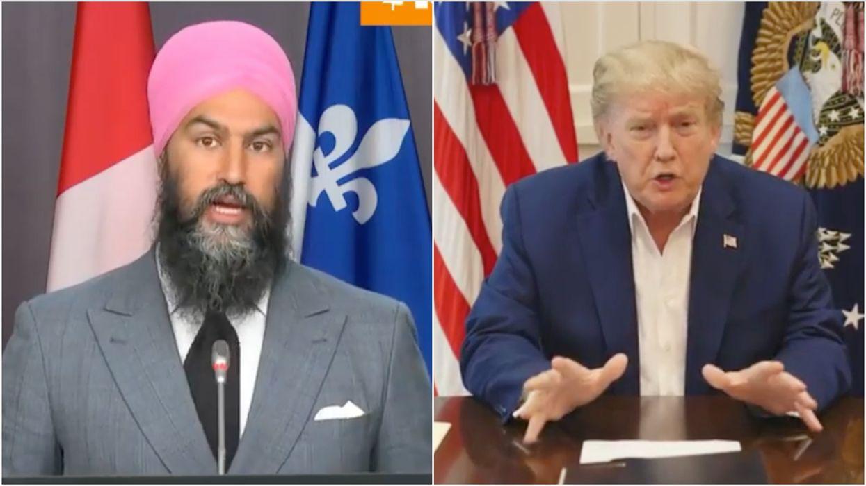 Jagmeet Singh Said Donald Trump's Behaviour Is 'Reckless & Dangerous'