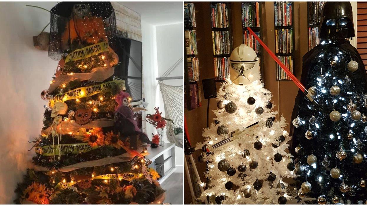 Les sapins d'Halloween existent et c'est le mix idéal entre tes deux fêtes préfs (Photo)