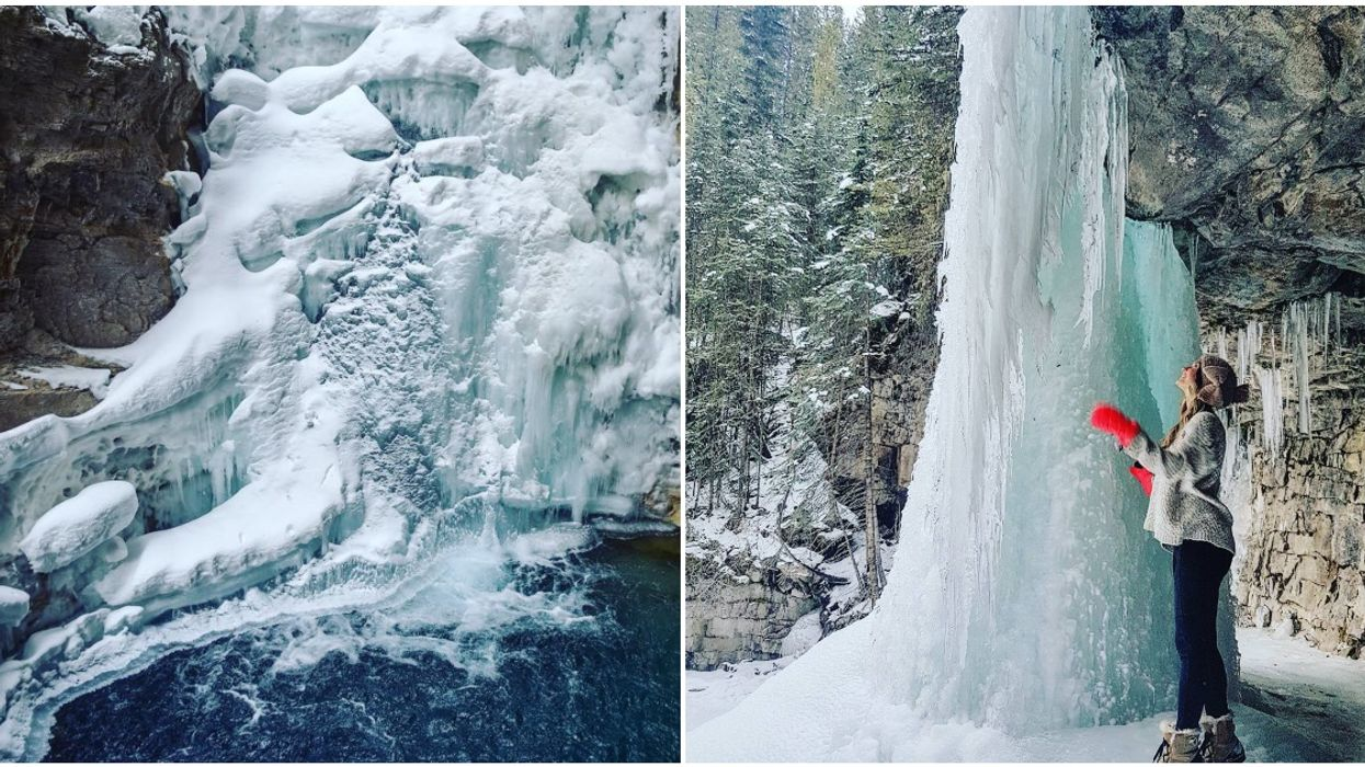 7 Alberta Waterfalls That Transform Into Magical Frozen Art Forms In The Winter