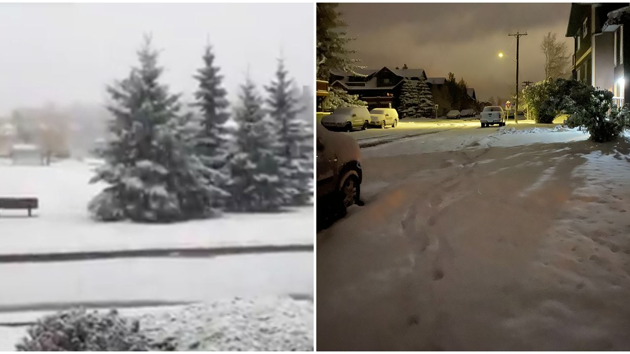 Alberta Woke Up To Full On Winter This Morning & It's Going To Keep Piling Up (PHOTOS)