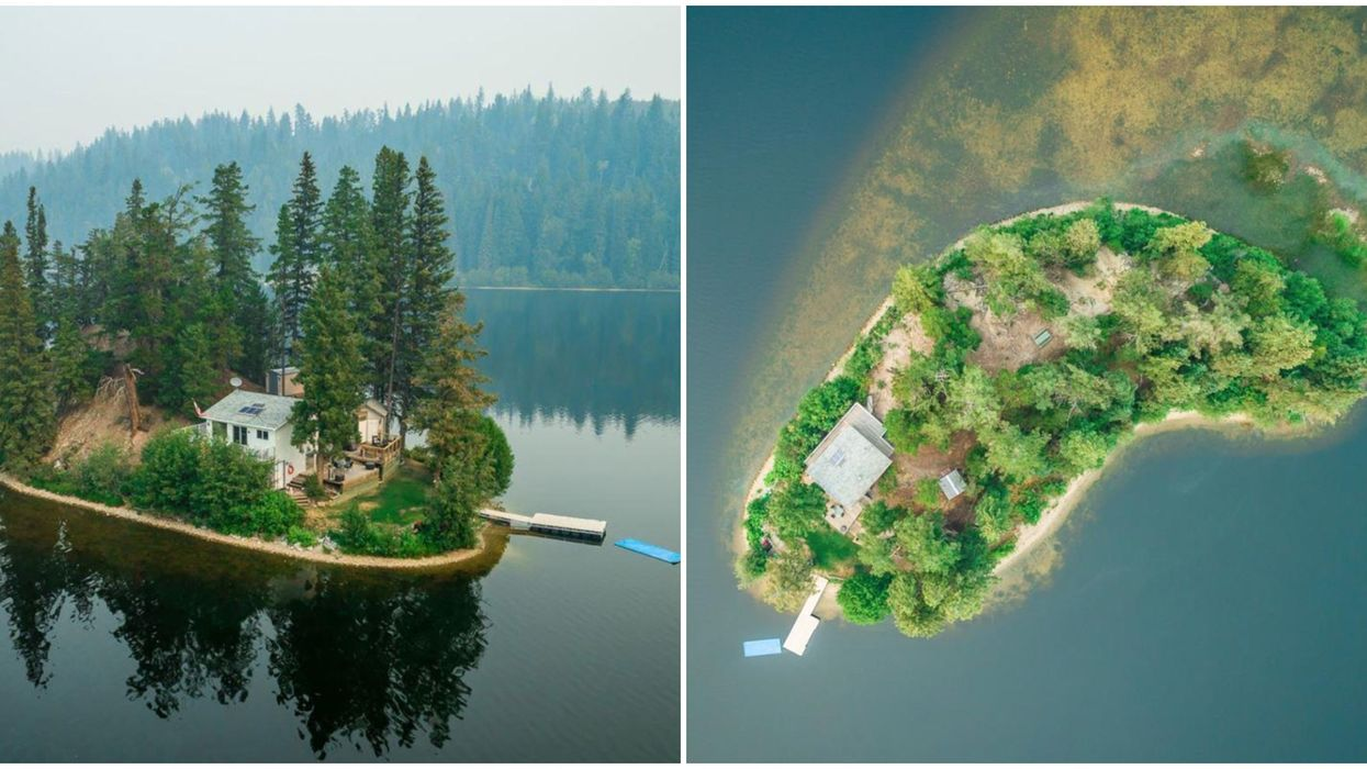 Private Island For Sale In BC With A Tiny Cabin On It Is For Sale For $269,900