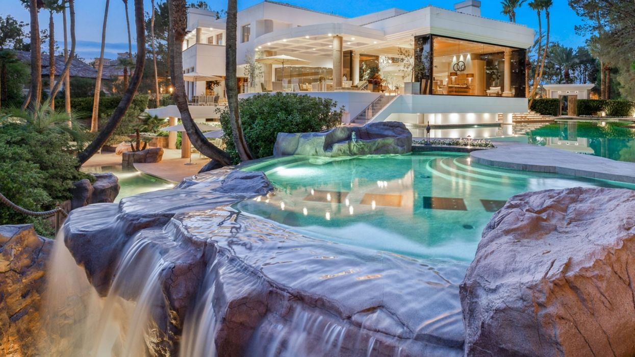 Las Vegas Mansion: This Home For Sale Has Three Pools & One Has A Waterfall