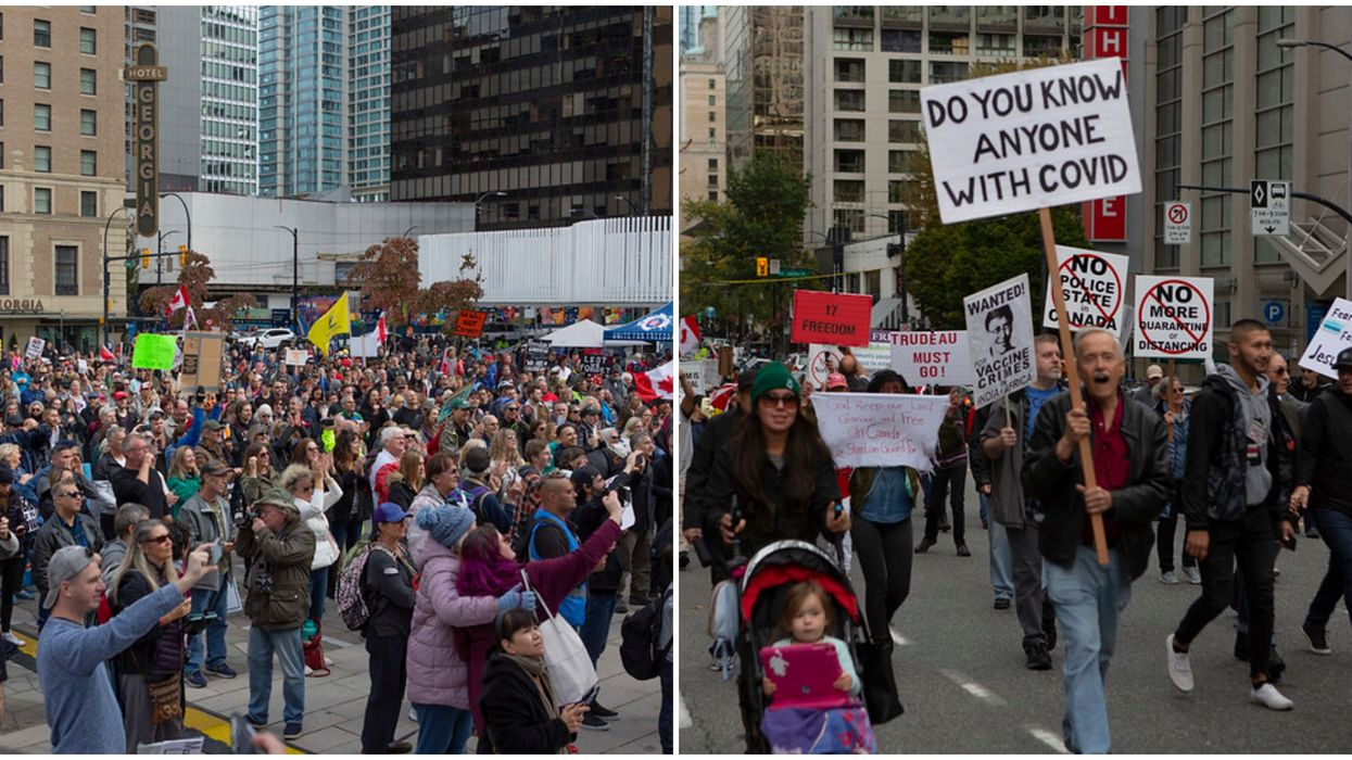 'Freedom Rally' In Vancouver Had 1000 Protesters & No One Was Social Distancing