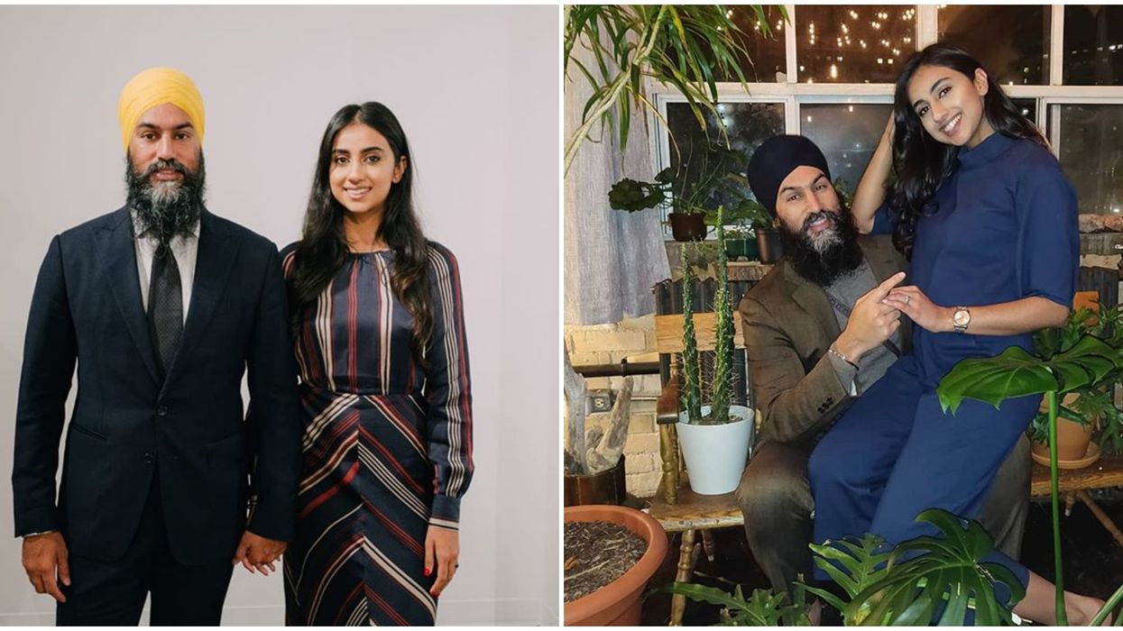 Jagmeet Singh & His Wife Were Twinning Adorably In A Fall Photoshoot