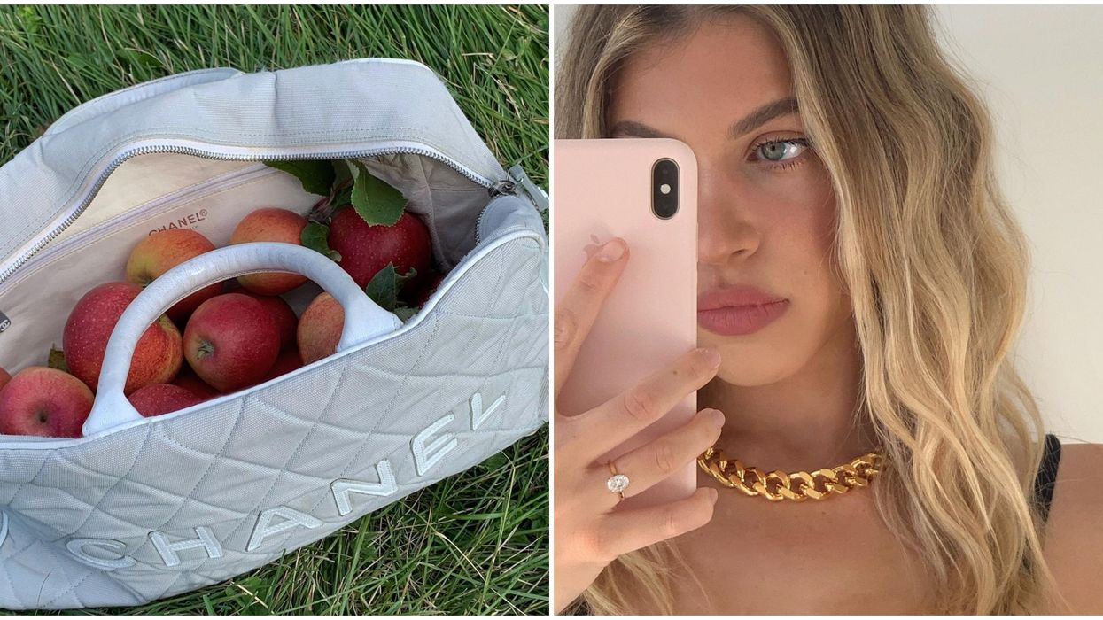 Nitsan Raiter Picking Apples With A Chanel Bag Is The Peak Fall We Did Not Know We Needed