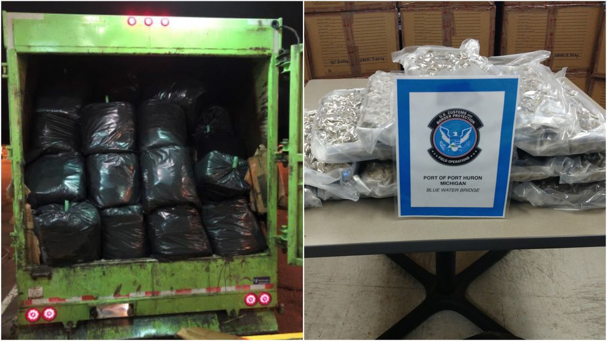 Garbage Truck Full Of Weed Was Busted At The Canada-US Border & There Was 1000 Pounds
