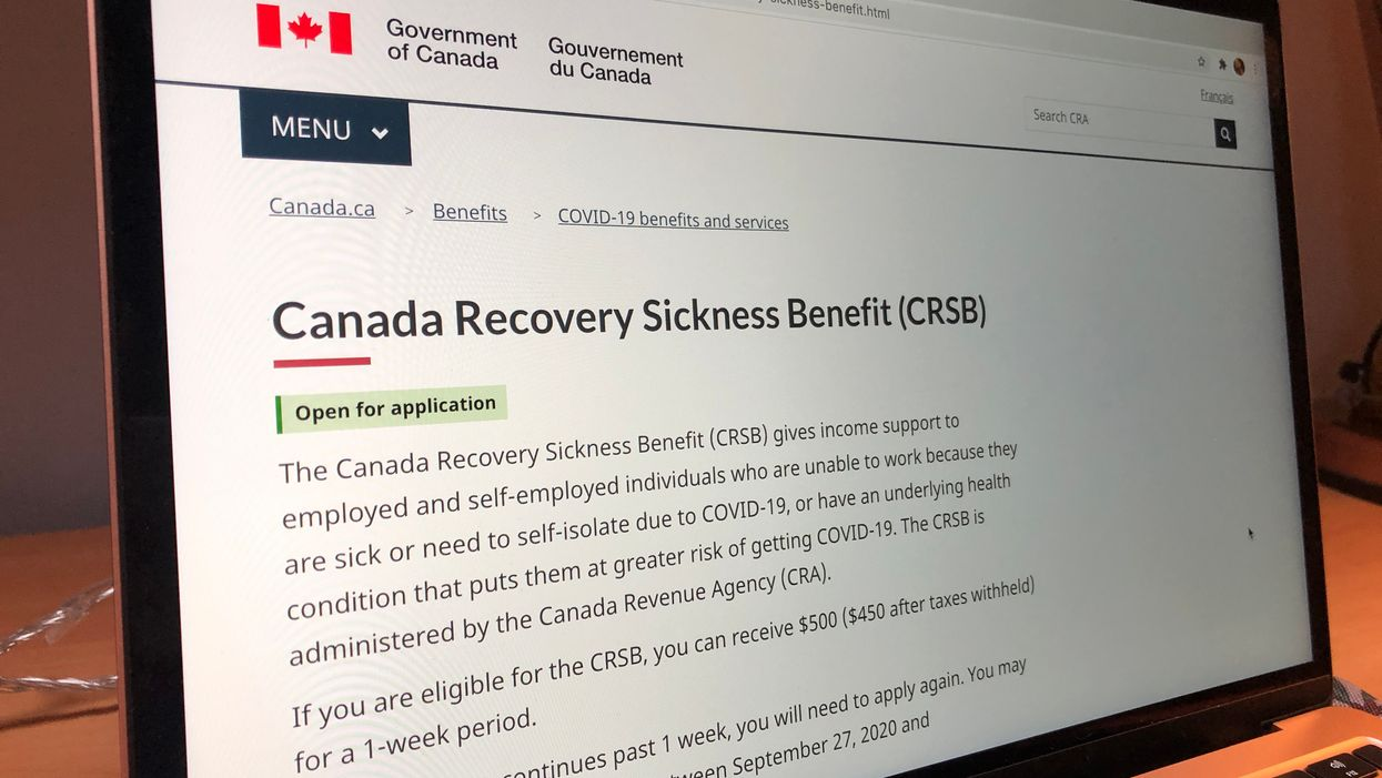 CRSB: Canadians Who Need To Self-Isolate Can Now Get $500 Per Week