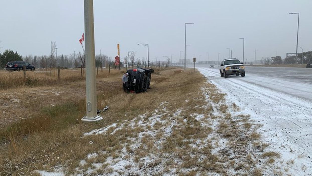 Edmonton Drivers Are Going Wild On The Ice & Police Responded To Over 50 Crashes On Monday