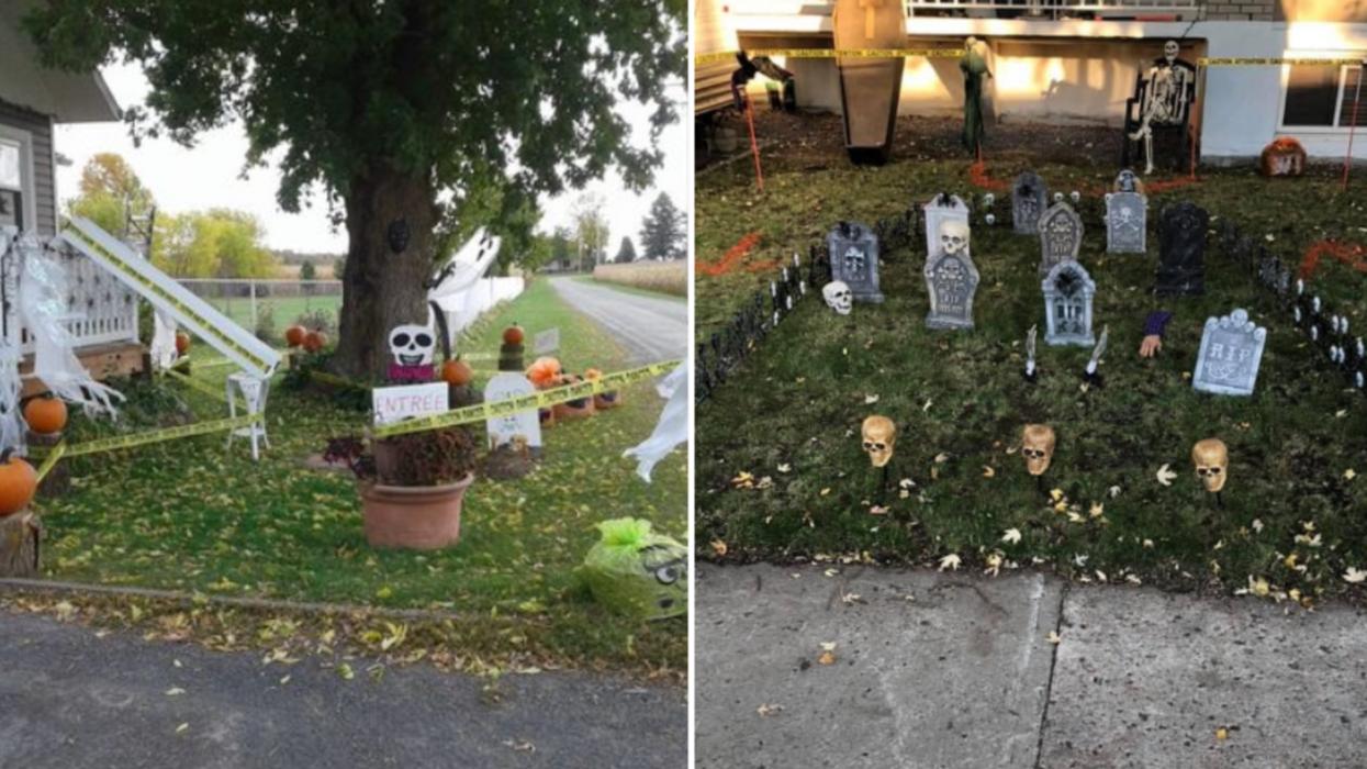 Ces Québécois créent des systèmes pour donner des bonbons d'Halloween à distance (PHOTOS)