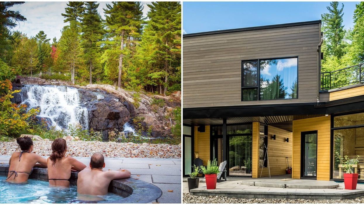 Cottage Near Ottawa That Comes With A Private Hot Tub & Waterfall