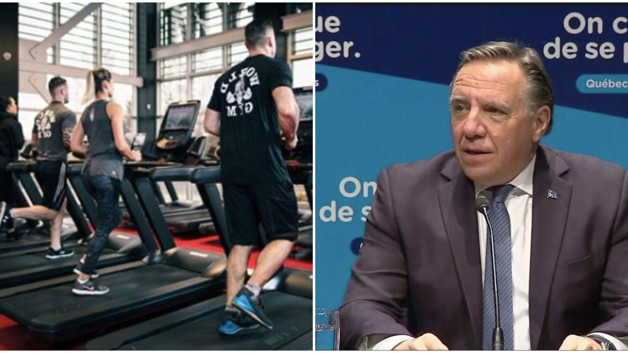 Les gyms ne pourront pas rouvrir ce jeudi et voici ce que François Legault leur répond