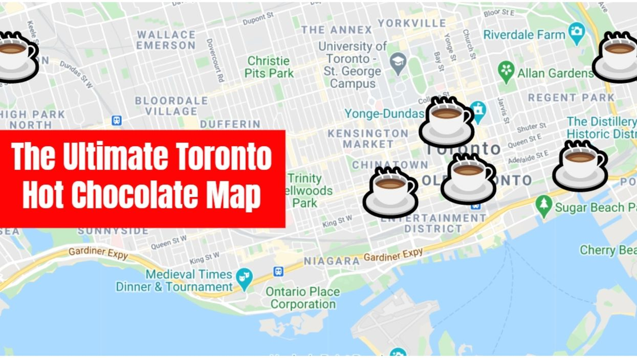 This Map Will Take You On The Ultimate Hot Chocolate Tour Of Toronto