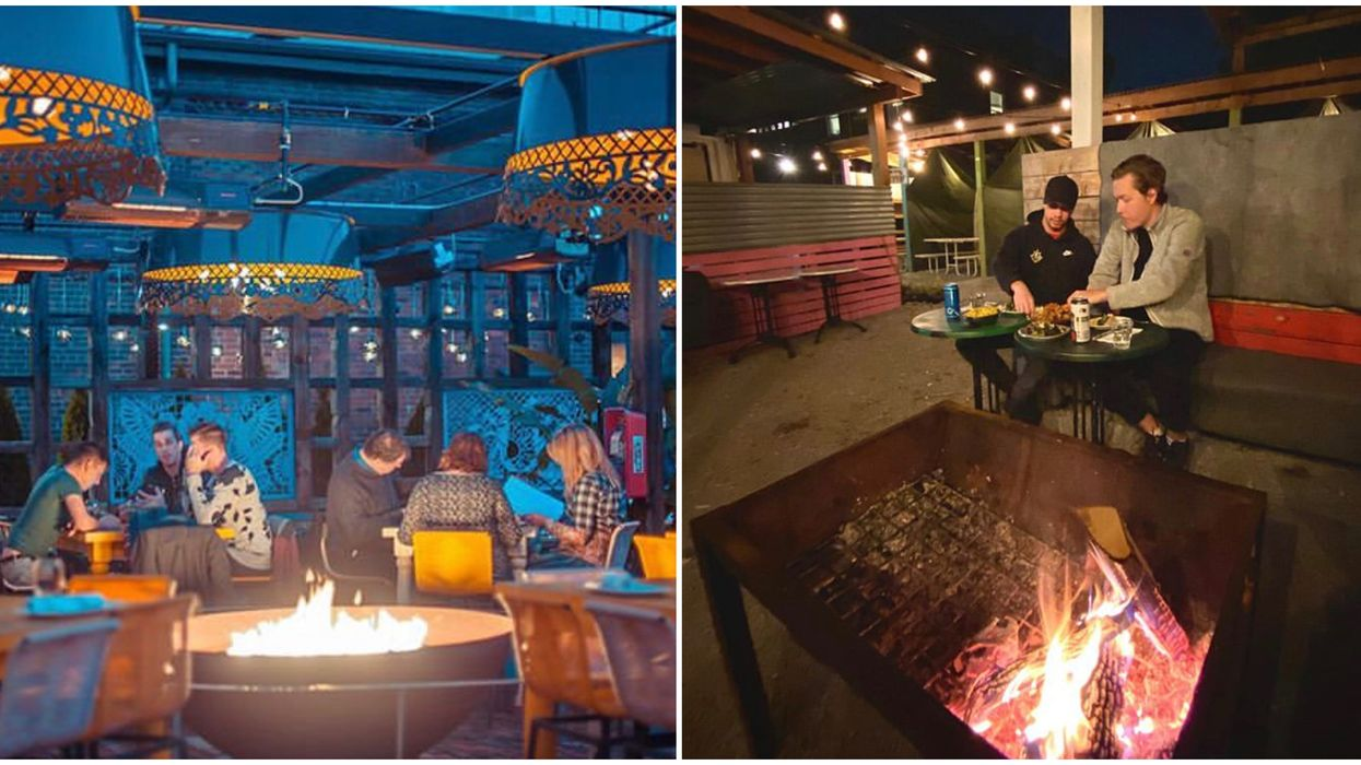 6 Patios In Toronto Where You Can Cozy Up By An Open Fire