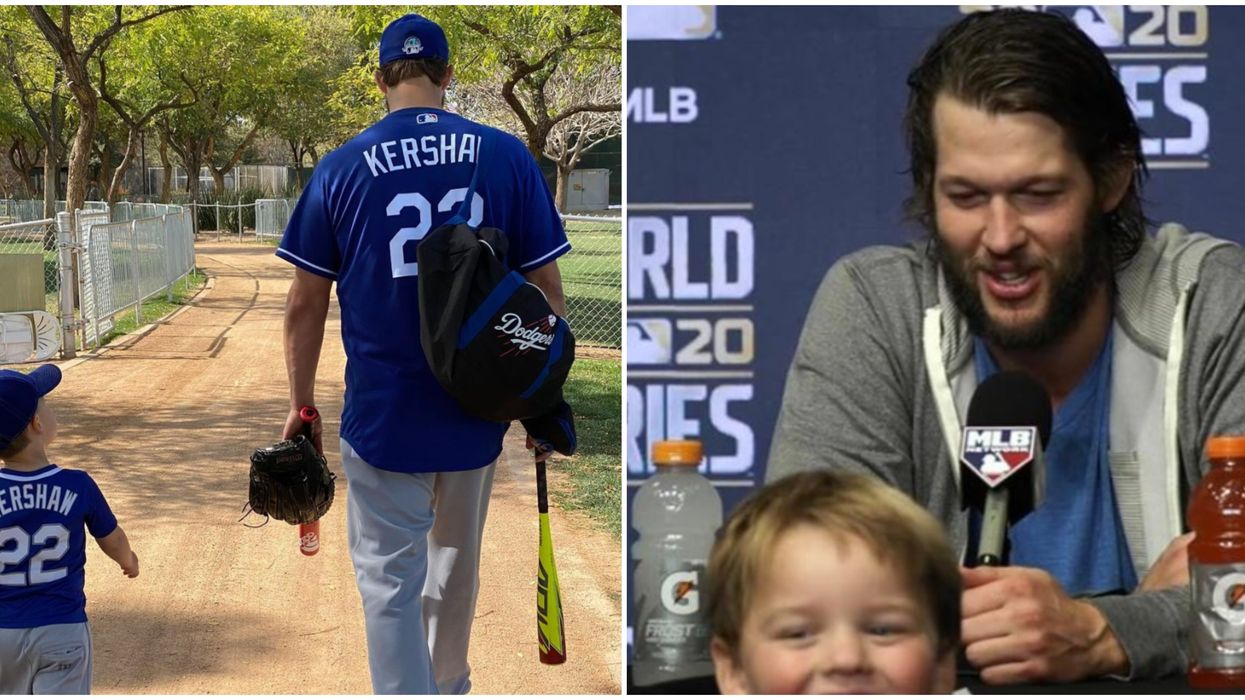 Dodgers Pitcher Clayton Kershaw Is Over Here On Instagram Just Living His Best Dad Life