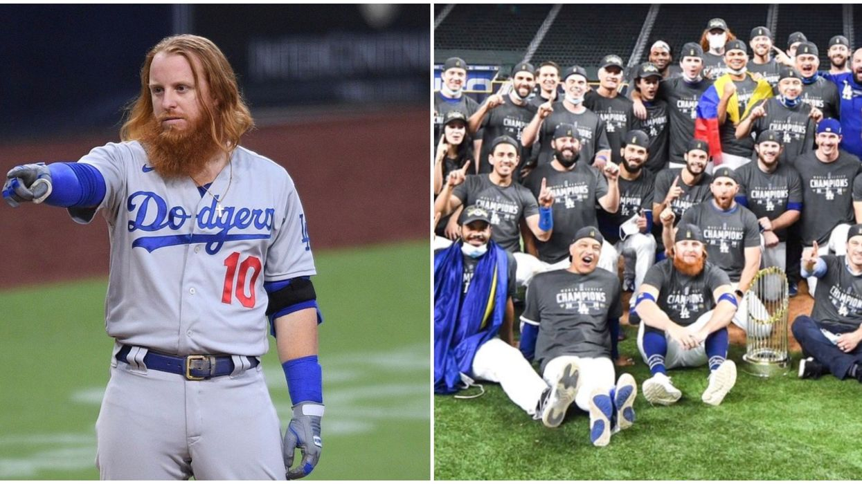 Justin Turner Has 'No Symptoms' After Testing Positive For COVID & Holding The Trophy