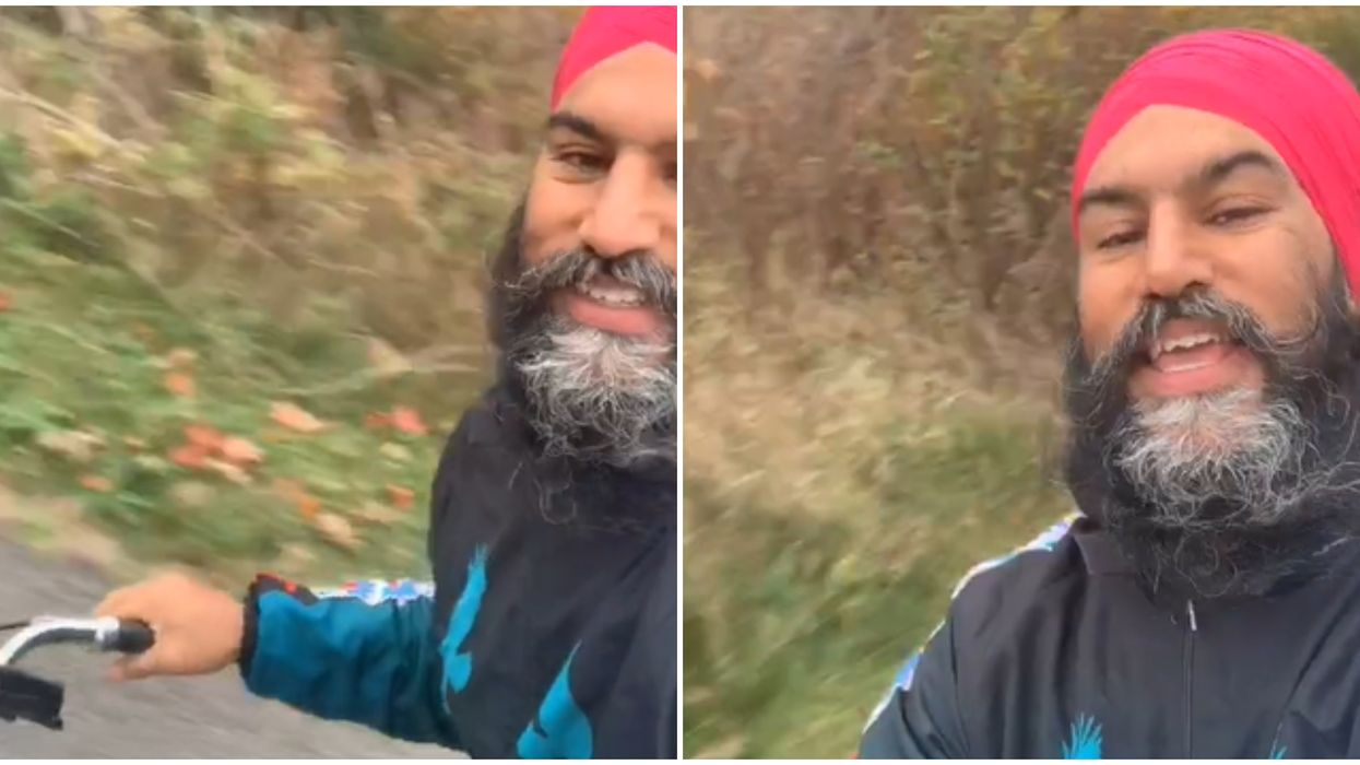 """Jagmeet Singh's TikTok Has Another Version Of The """"Dreams"""" With Him On A Bike This Time"""
