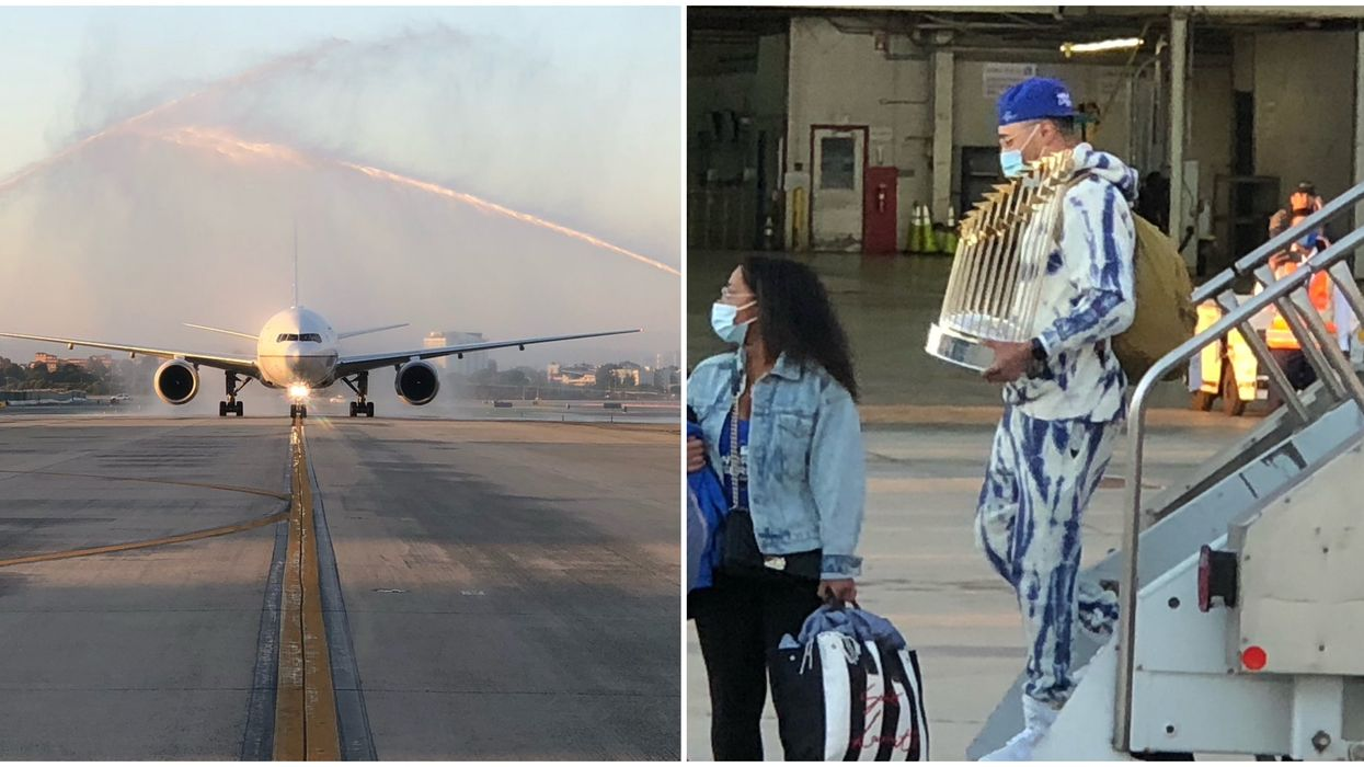The Dodgers Have Landed At LAX And Hopefully They Didn't Bring COVID With Them