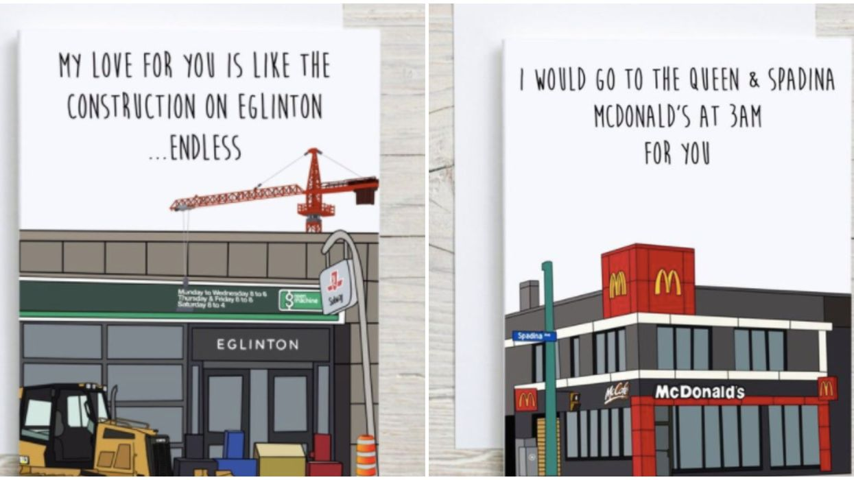 Toronto's Iconic Inside Jokes Have Been Turned Into Steamy Romantic Love Cards