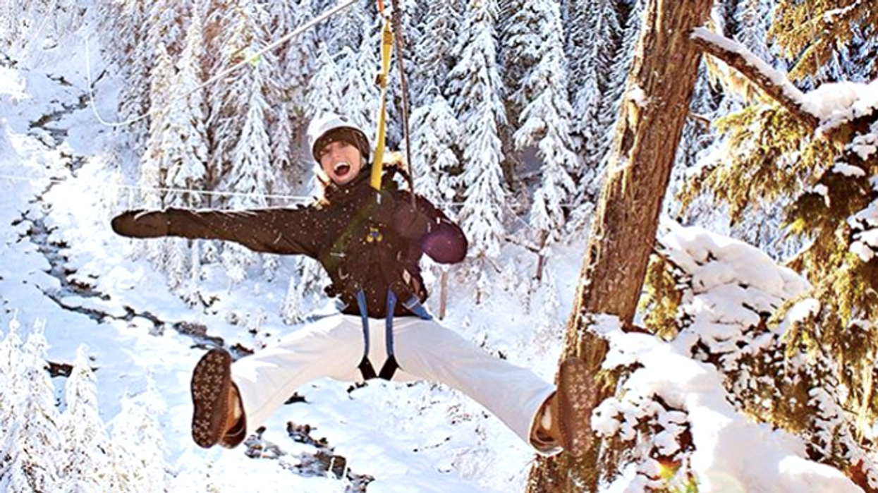 You Need To Zip-Line Through This Winter Wonderland Just An Hour From Ottawa