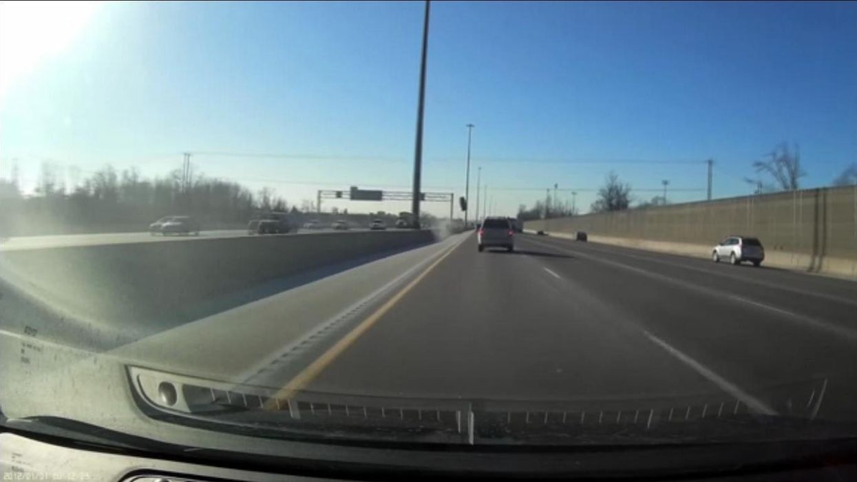 This Is What Happens When A Tire Crashes Through Your Windshield On The 401