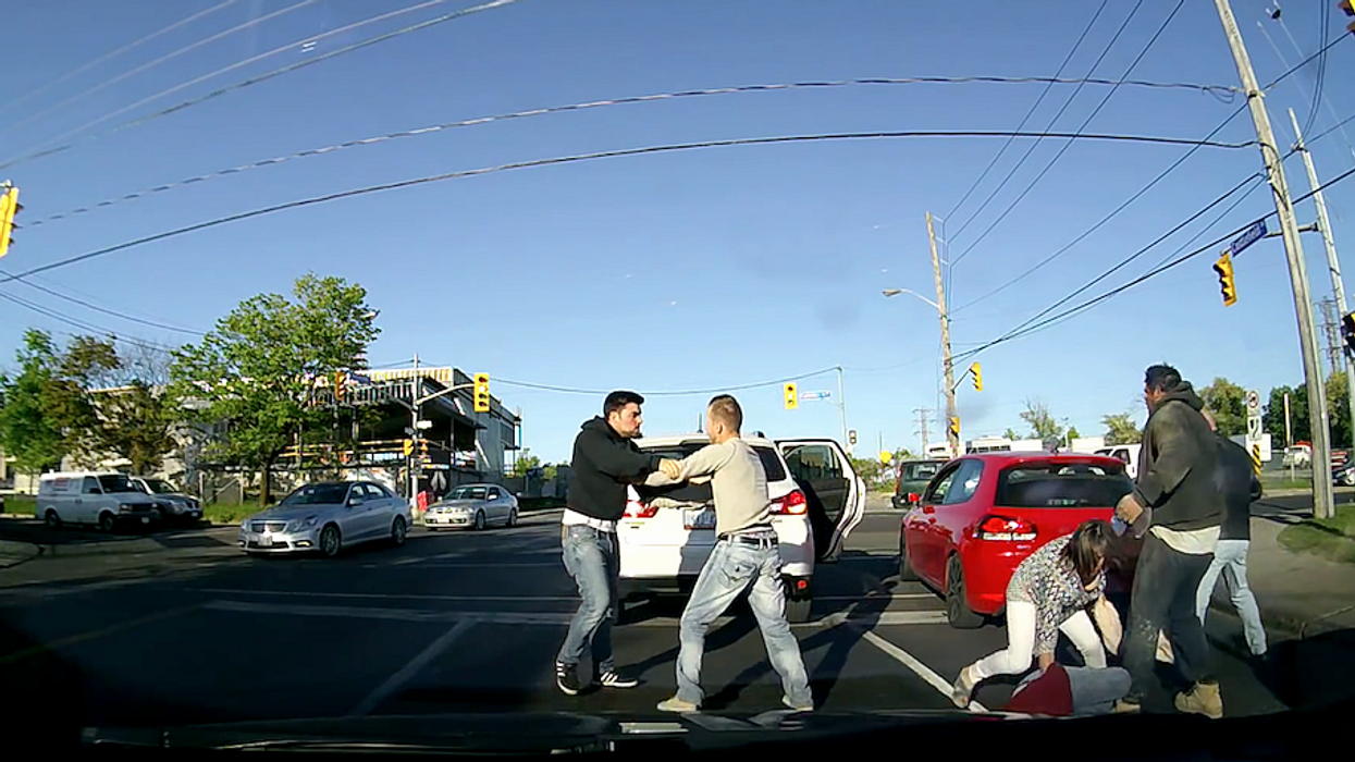 Toronto Men's Road Rage Brawl Caught On Dash Cam