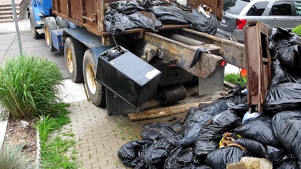 Toronto Garbage Disposal Company Dumps Three Tons Of Trash On To Front Lawn