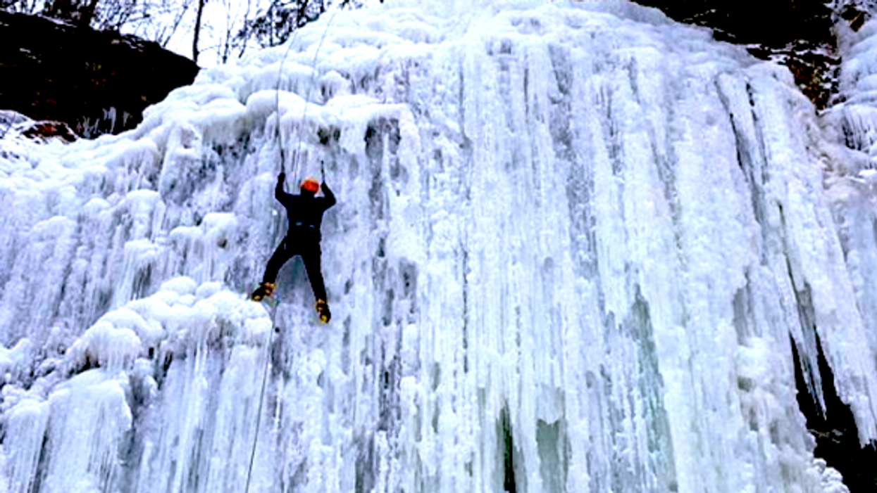 You Can Ice Climb Frozen Waterfalls Just 2 Hours Away From Toronto