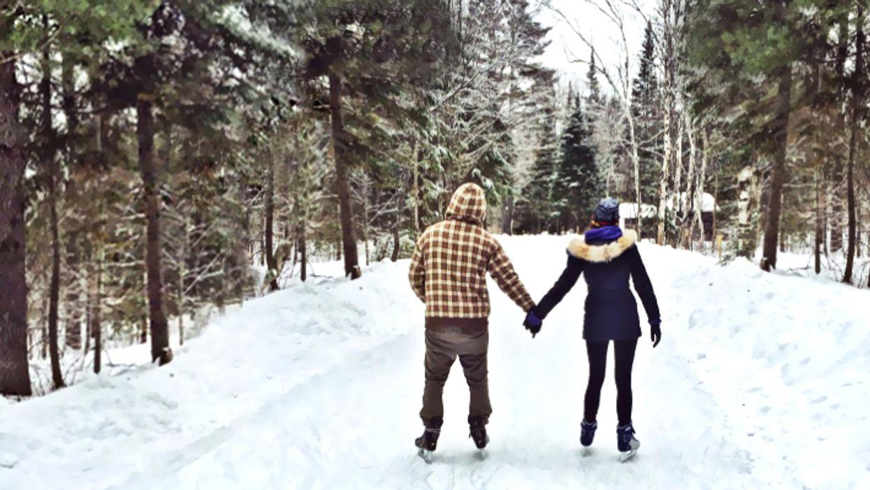 This 1.3-km Ice Skating Trail Takes You Through A Gorgeous Wintery Park In Ontario