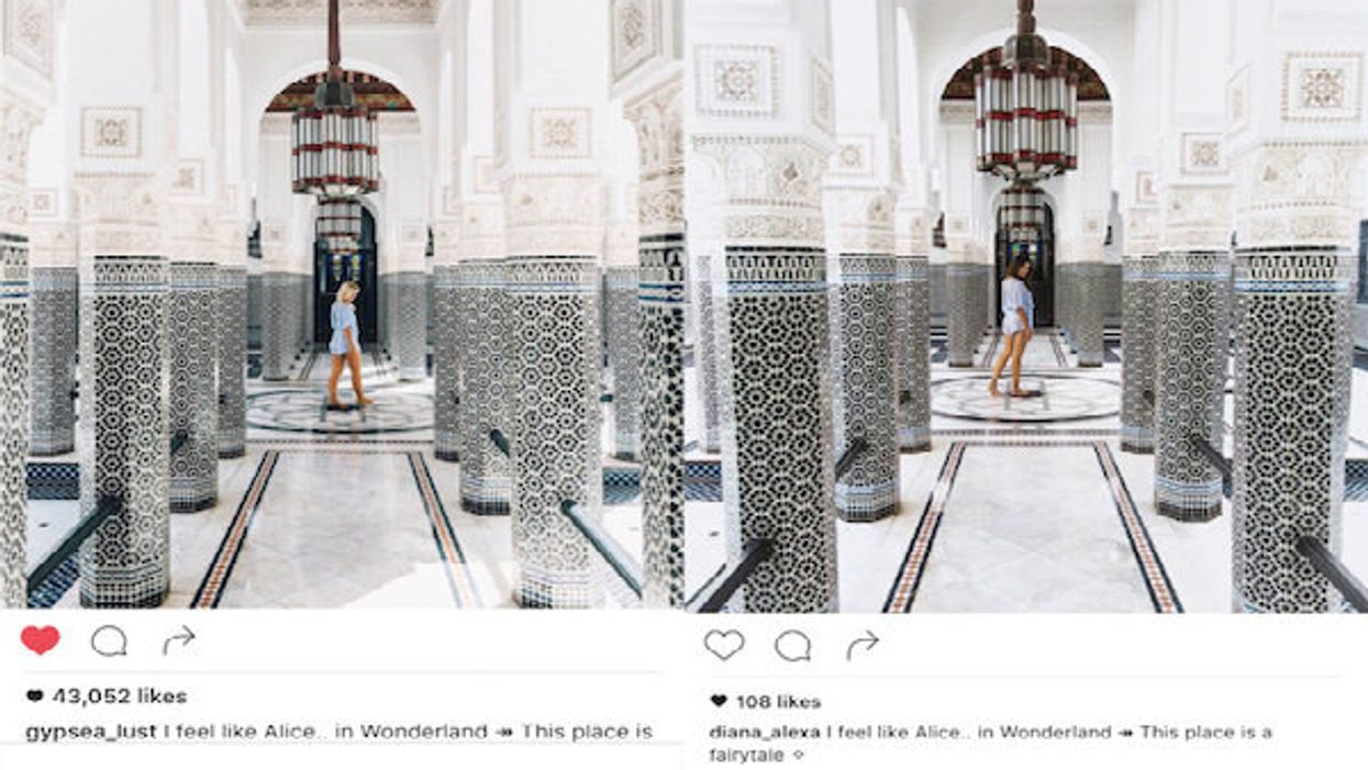 Some Girl Followed A Popular Travel Blogger Around The World And Copied All Her Instagram Photos