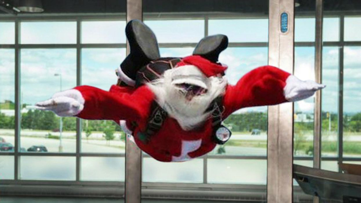 You Can Now Go Skydiving Indoors With Santa In Toronto