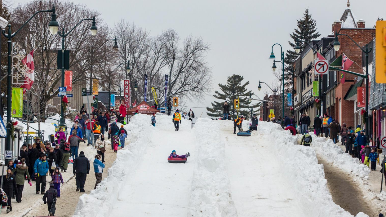 This Ontario Town Is Transforming Its Downtown Into A Giant Tubing Hill