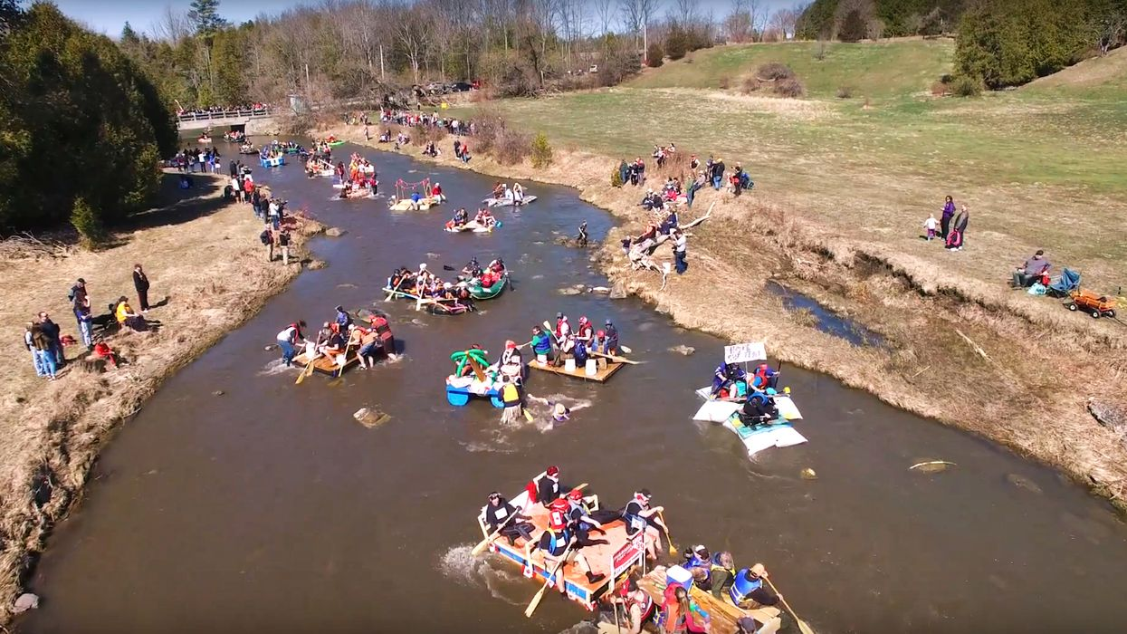 You Can Build A Crazy Raft And Race It Down This 10-km River In Ontario