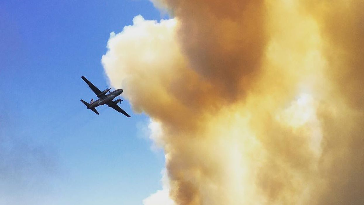 Wildfire In Delta Still Ablaze After An All Night Battle With Firefighters
