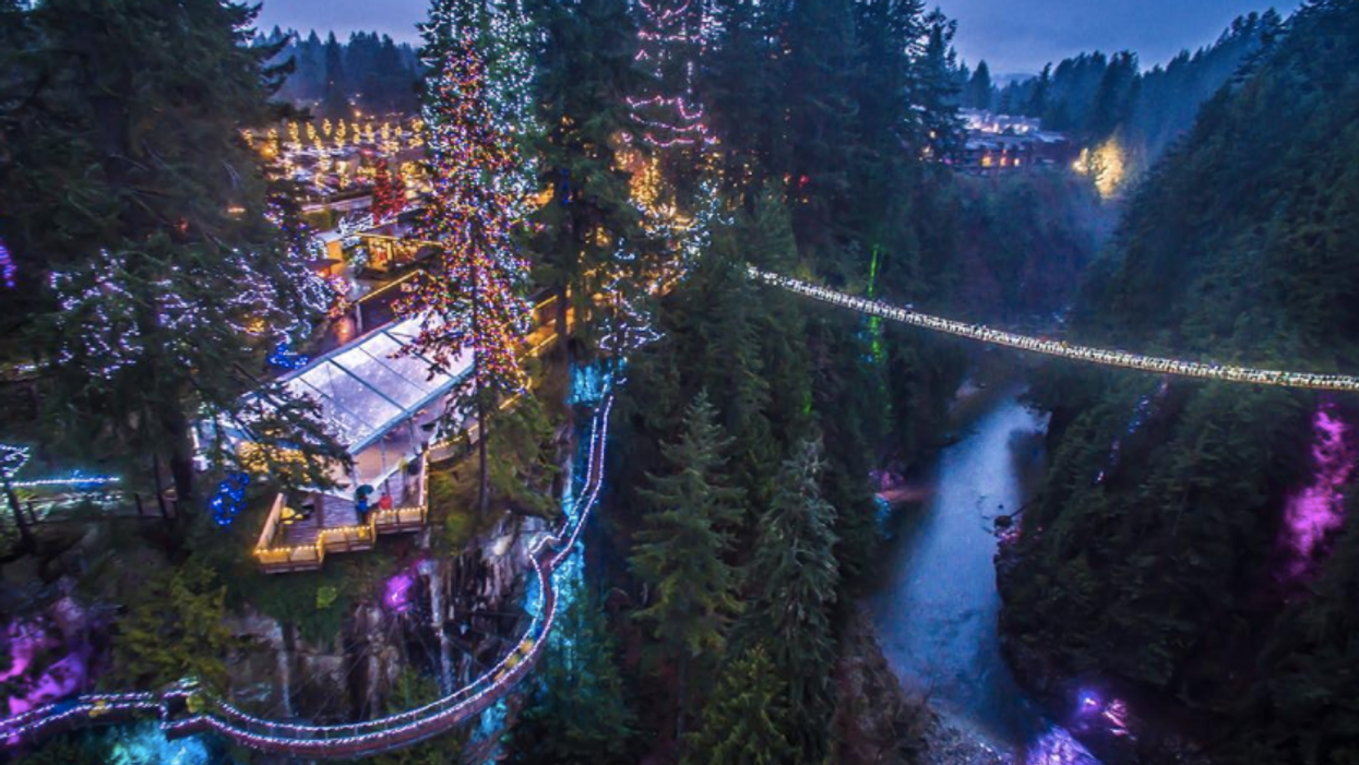 Vancouver's Capilano Suspension Bridge Is Now A Magical Christmas Wonderland (20 Photos)