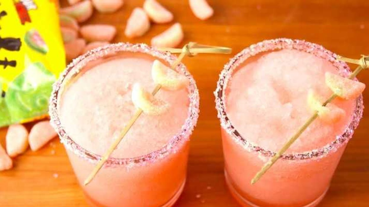 This Alcoholic Watermelon Candy Slushie Is Summer In A Cup