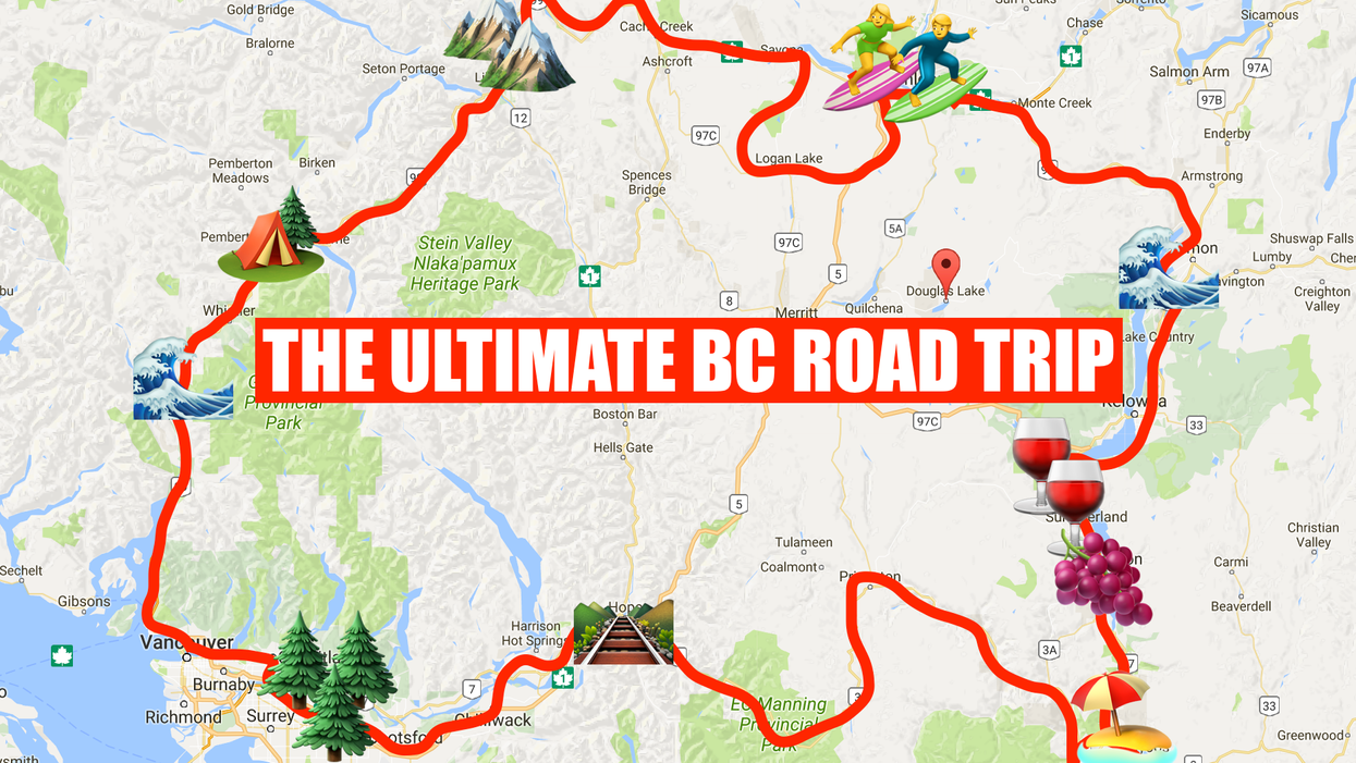 This Map Will Take You On The Most Epic Road Trip Through BC Anyone's Ever Been On