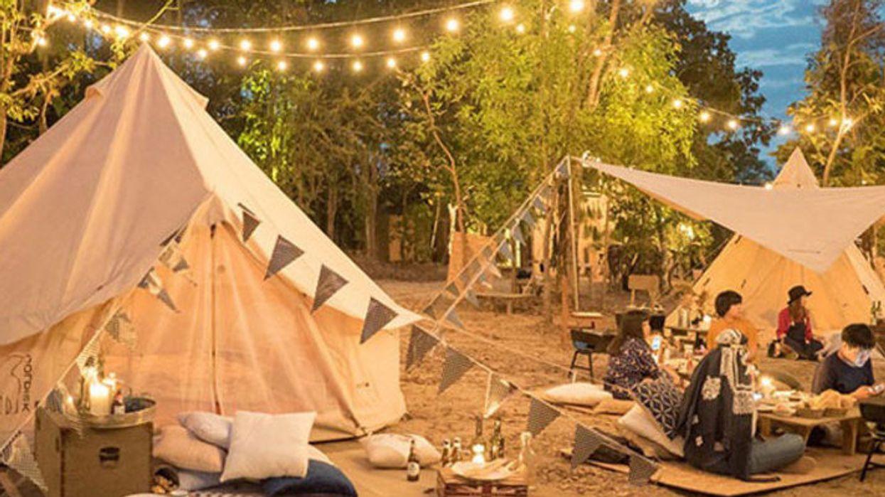 Le camping urbain le plus magique auquel tu dois aller!