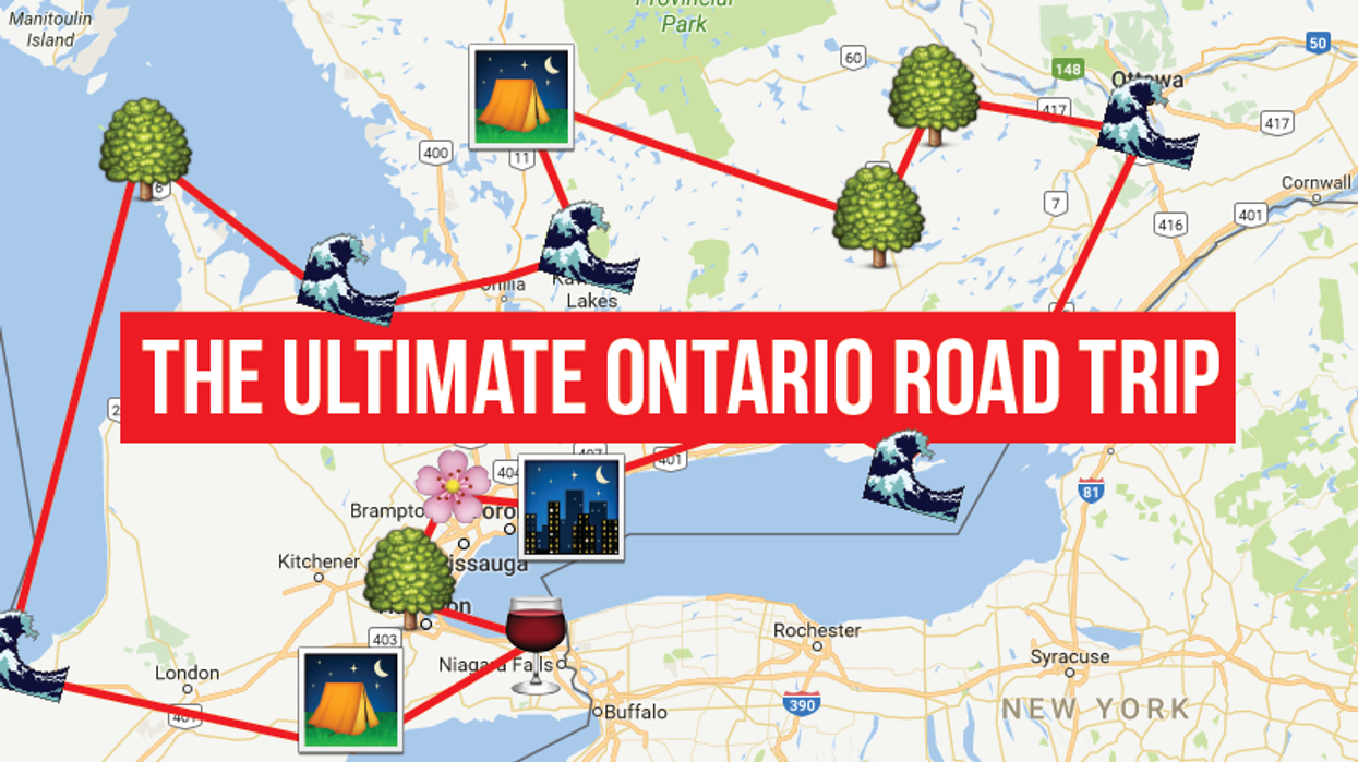 This Map Will Take You On The Most Epic Road Trip Through Ontario Anyone's Ever Been On