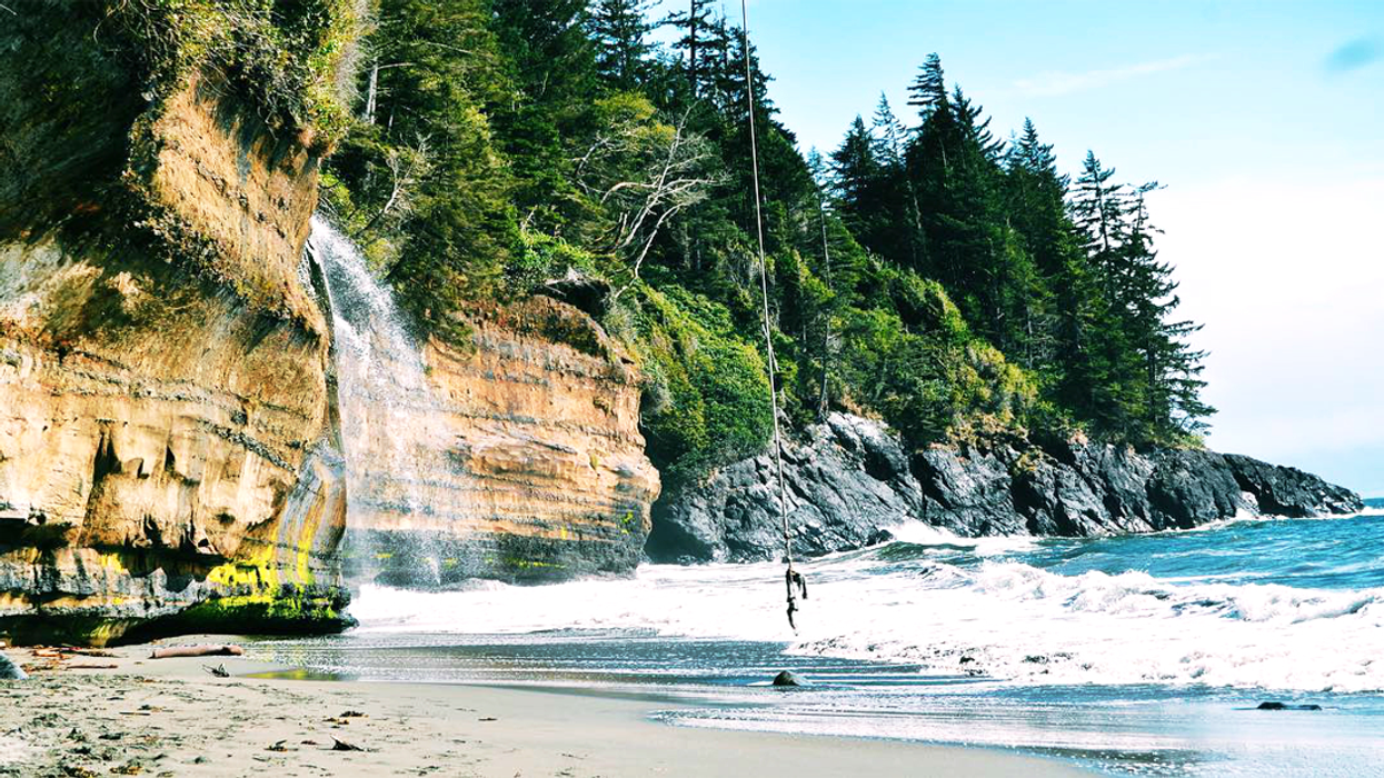 This Incredible Beach With Its Own Waterfall Is One Of The Most Beautiful Places In Canada
