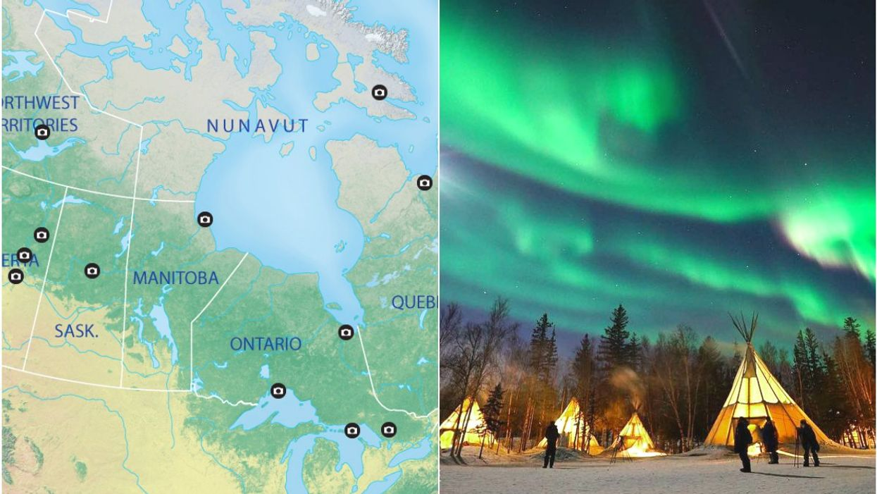 This Map Shows You The Best Places To View The Northern Lights In Canada